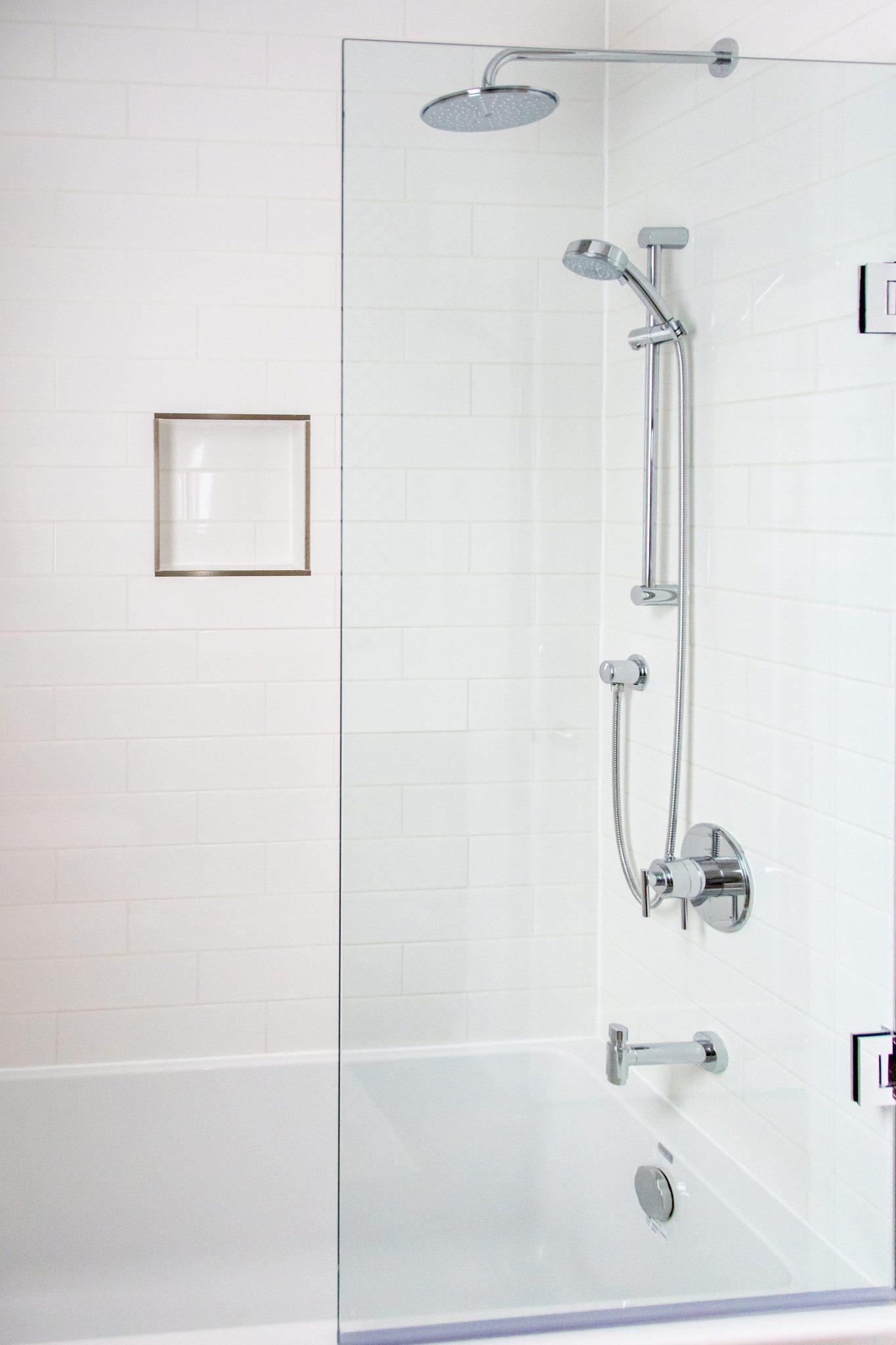 very white shower